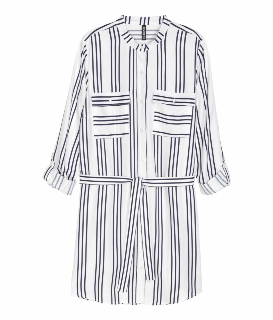 Skjortekjole fra H&M, kr 199. Foto: Produsenten