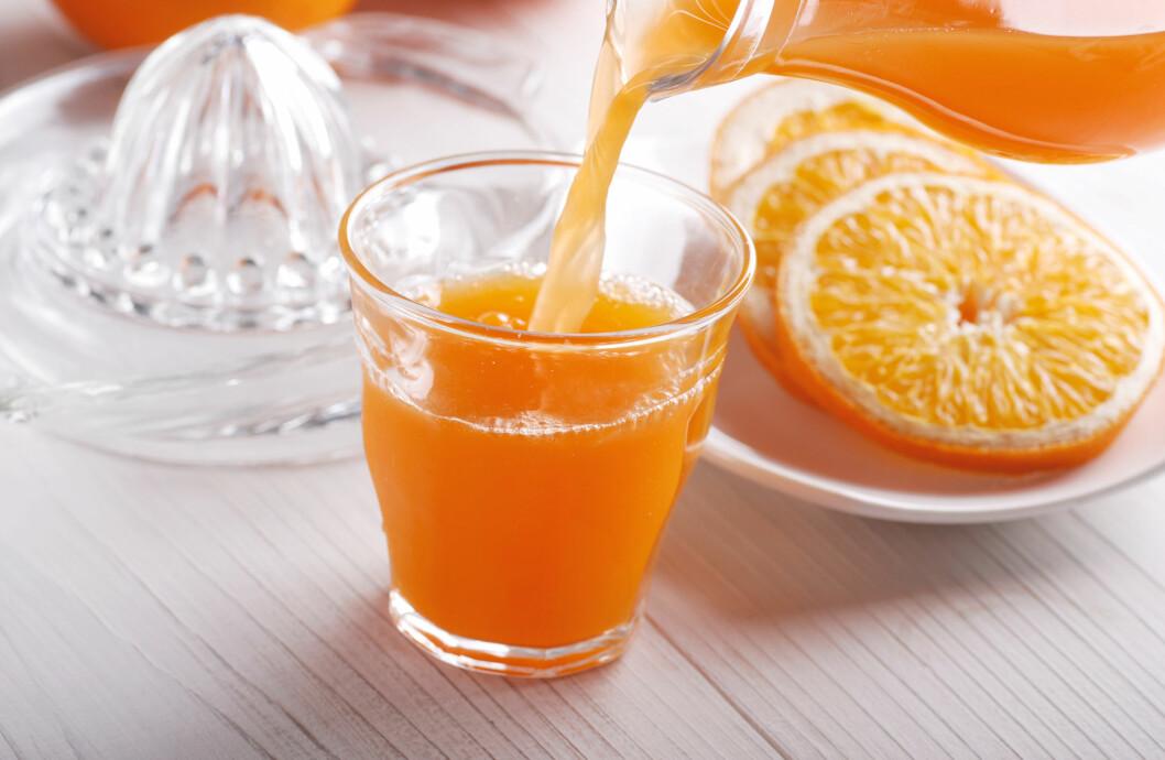 MYE SUKKER I JUICE: Juice inneholder like mye sukker som brus og blir ikke anbefalt som en tørstedrikk.  Foto: al62 - Fotolia