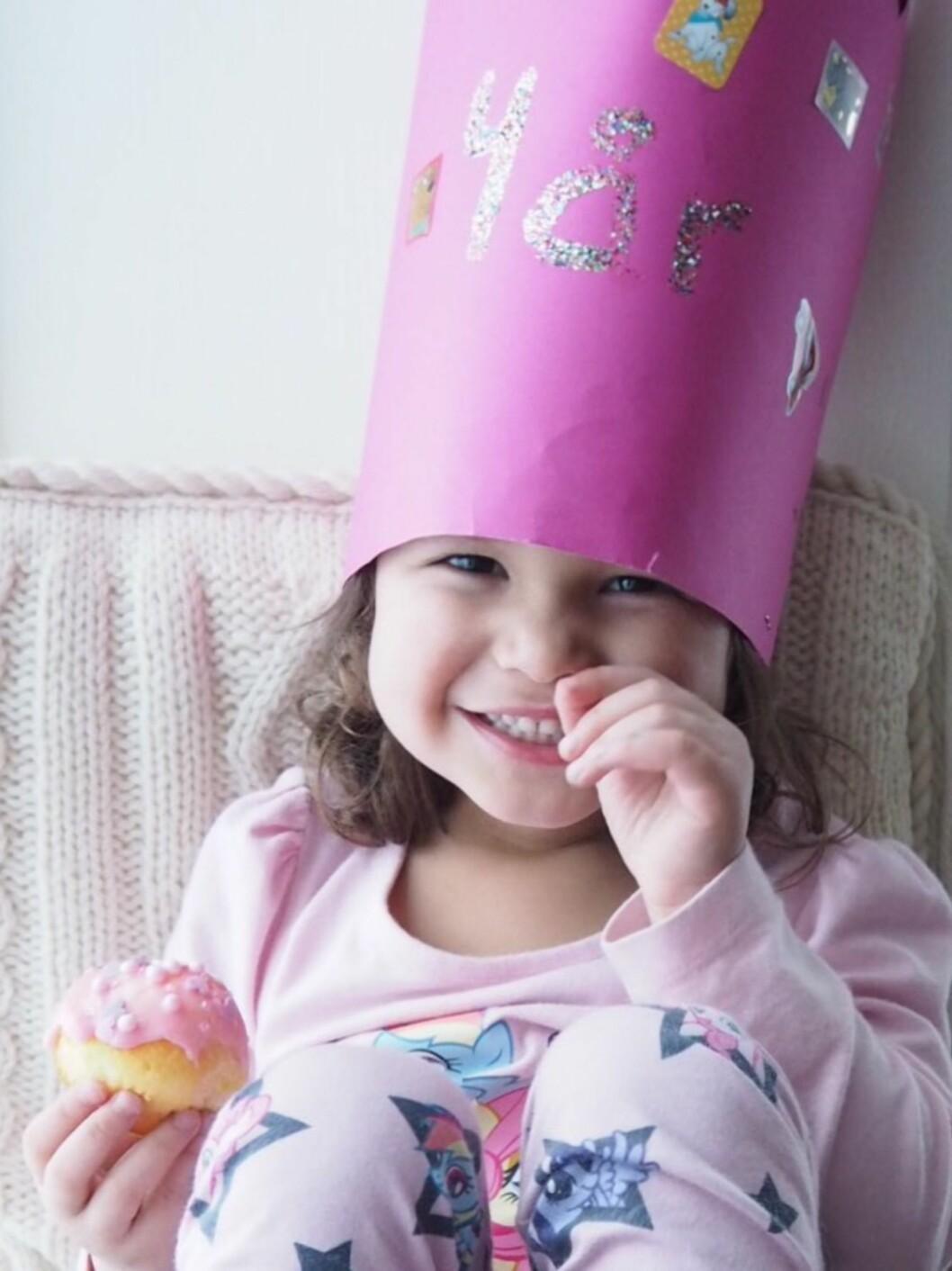 Vibekes datter India Leona fylte nylig 4 år.         Foto: Vibekeklemetsen.no