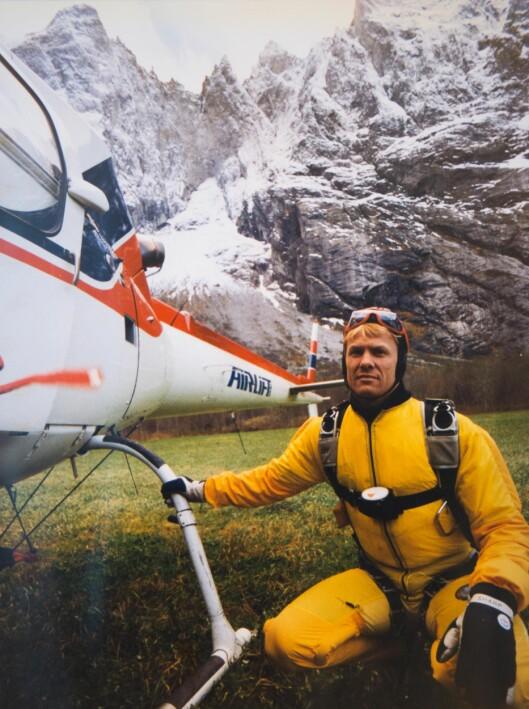 FRILUFTSMANN: Håvard Rognerud var både norsk og nordisk mester i fallskjermhopping. Foto: Privat