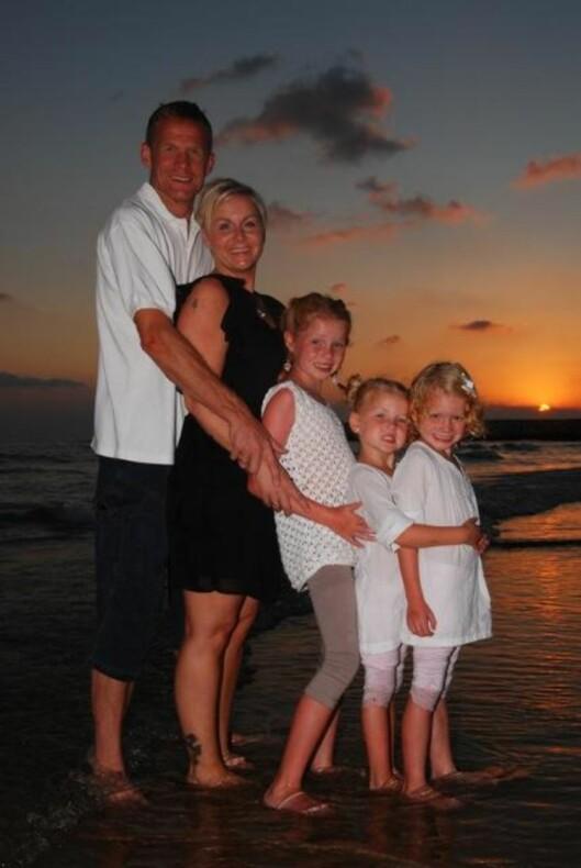 HELE FAMILIEN: Her er Håvard, Camilla, Sunniva, Mathea og Leonora på hans siste bursdag.