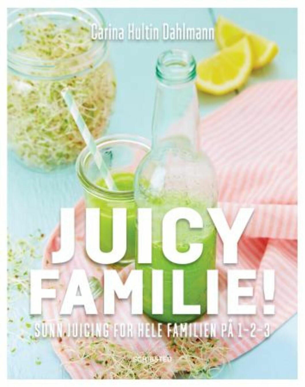 """""""Juicy familie"""" av Carina Hultin Dahlmann, kroner 149 på Haugenbok.no.  Foto: Produsenten"""