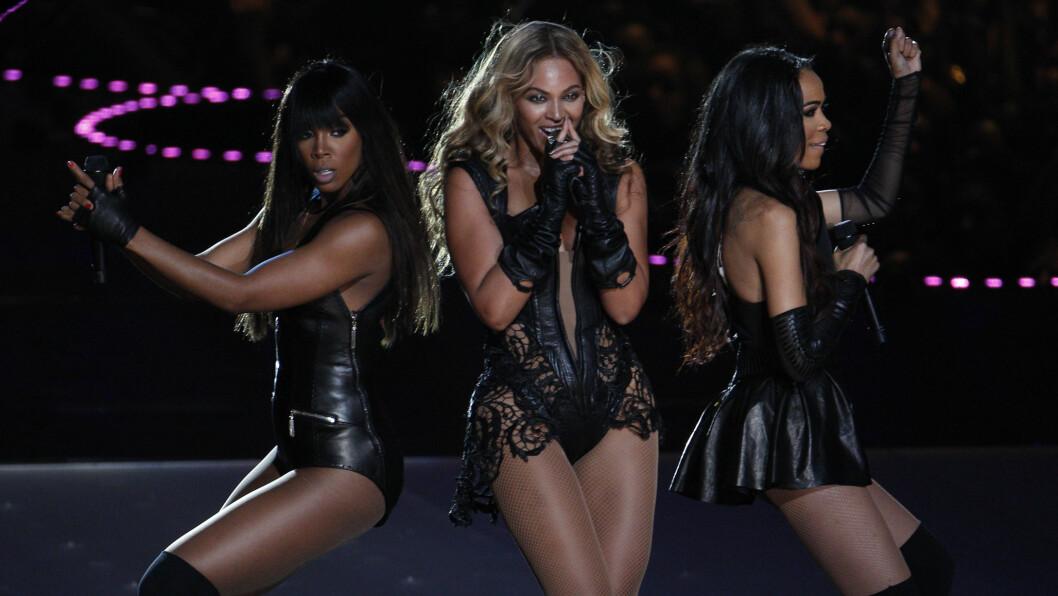 <strong>SUPERBOWL:</strong> Jentene i Destiny's Child hver sin vei i 2006, men under Super Bowl i 2013 inntok trekløveret scenen sammen nok en gang – til fansens store glede. Foto: Reuters
