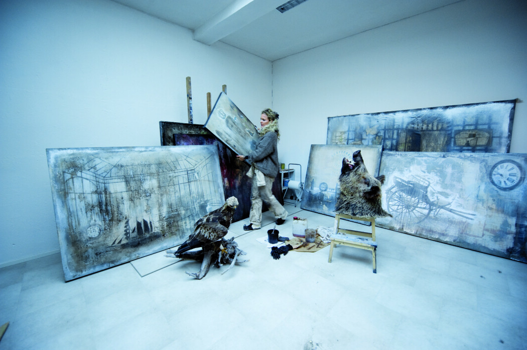 <strong>NATURBARN:</strong> Naturen har en stor plass i Elisabeth Werps malerier.  Foto: Anne Vesaas