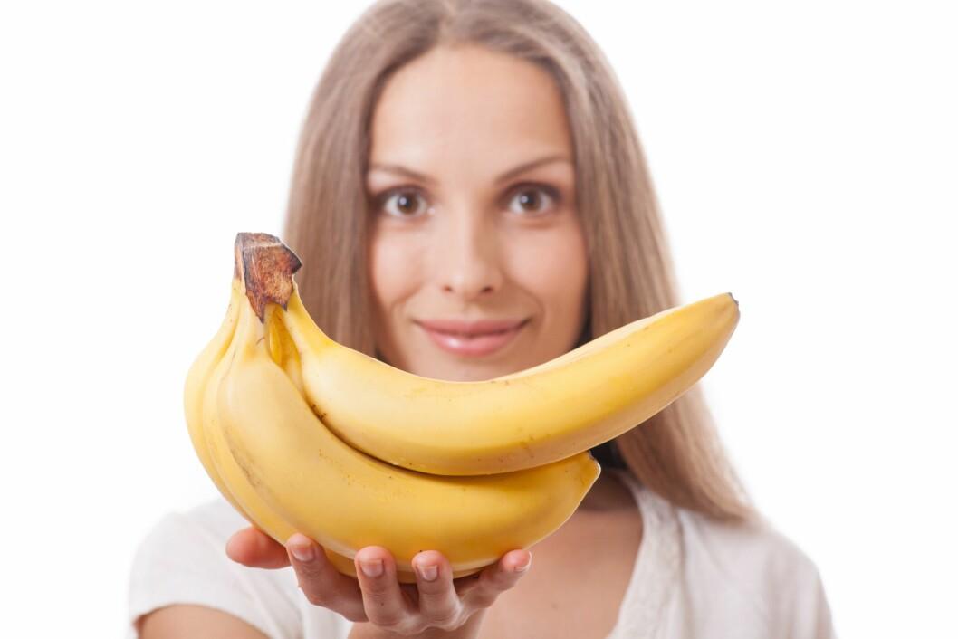 BANAN: Banan tilhører de fruktene som inneholder noe mer kalorier per enhet, men dette er absolutt ikke er noen grunn til å kutte den ut.  Foto: Vasily Merkushev - Fotolia