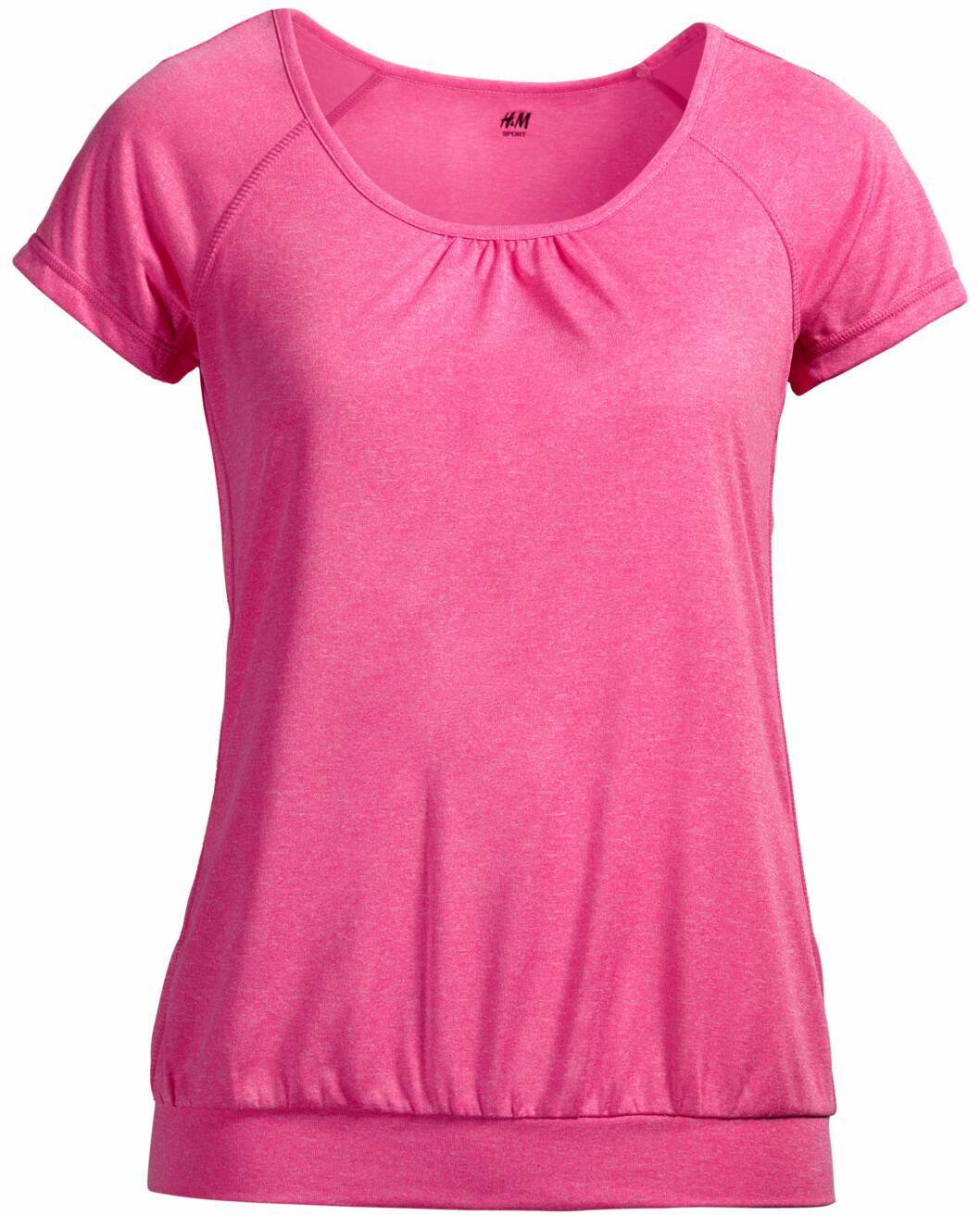 T-skjorte fra H&M Sport. Foto: Produsenten