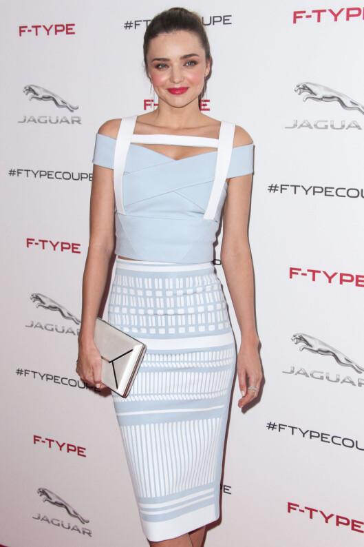 STILSIKKER OG VAKKER: Miranda Kerr er blitt en av verdens hotteste supermodeller de siste årene. Nå skal hun fronte vårkampanjen til H&M.  Foto: All Over Press