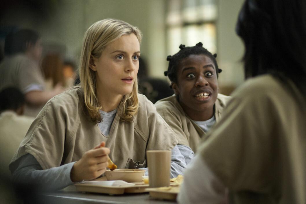 SUKSESS: TV-serien «Orange Is The New Black» har oppnådd enorm suksess siden den første episoden ble sendt i 2013 – og nå er premieredatoen for sesong 4 endelig avslørt. Foto: Ap
