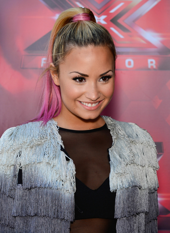<strong>FARGEDETALJ:</strong> Demi Lovato. Foto: All Over Press