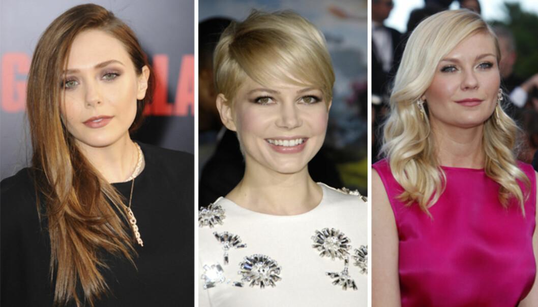 RUNDT FJES: Ashley Olssen, Michelle Williams og Kirsten Dunst. Foto: All Over Press