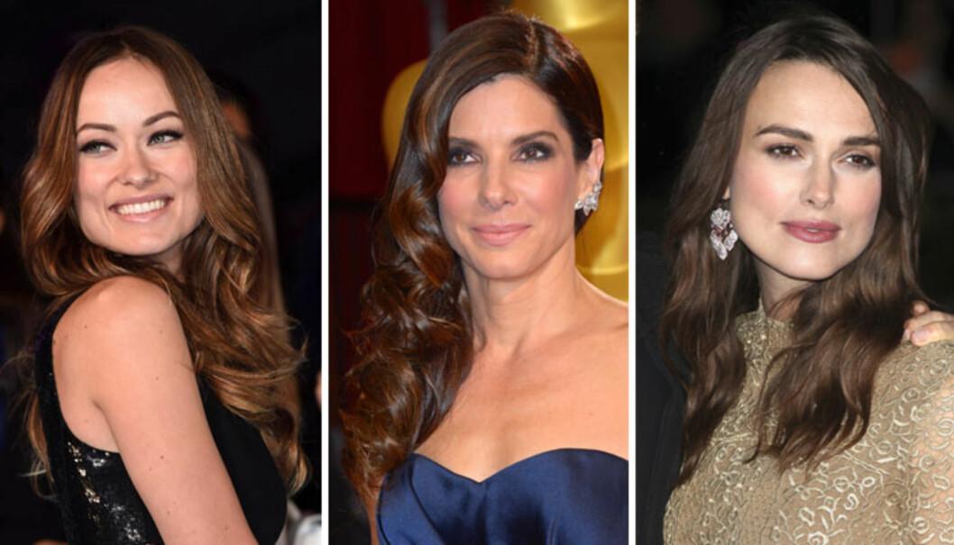 FIRKANTET FJES: Olivia Wilde, Sandra Bullock og Keira Knightley. Foto: All Over Press
