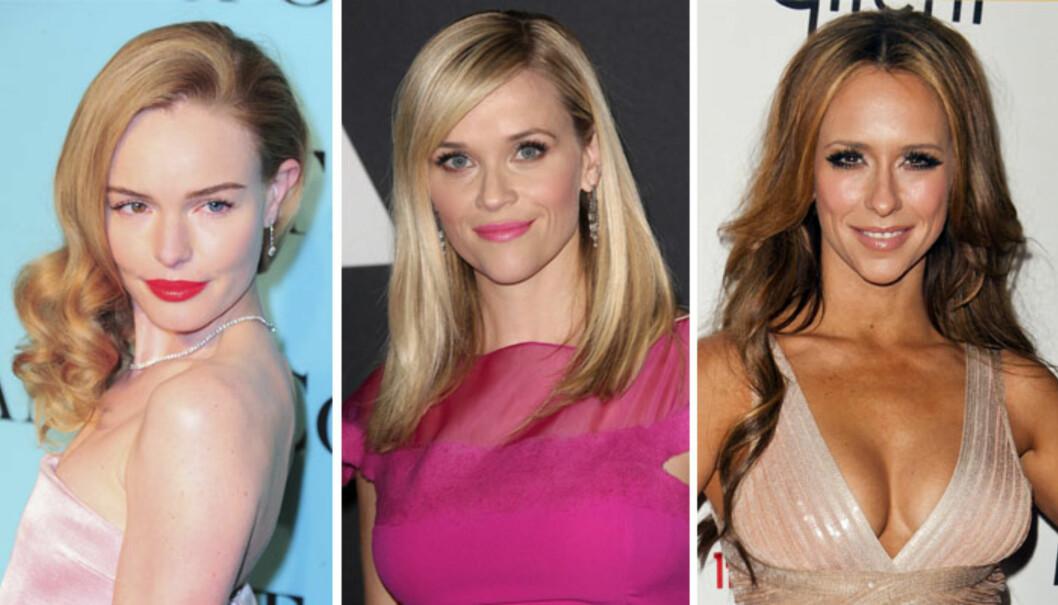 HJERTEFORMET FJES: Kate Bosworth, Reese Witherspoon og Jennifer Love Hewitt. Foto: All Over Press