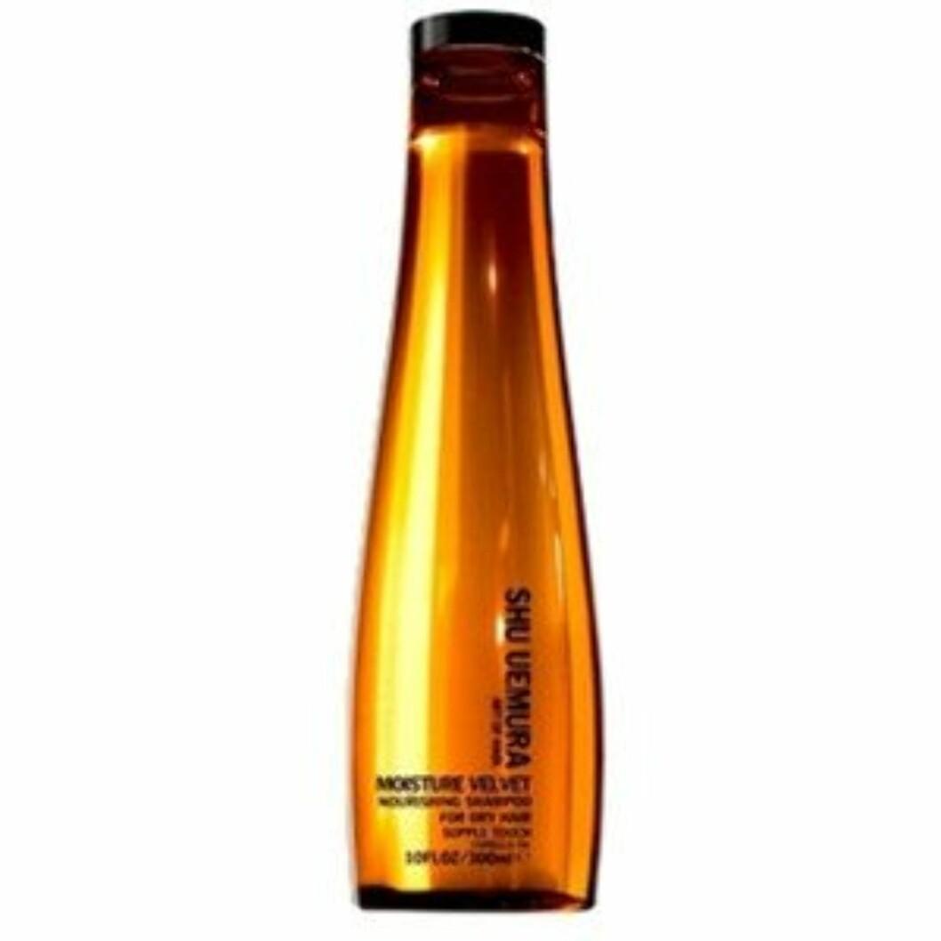 En fantastisk sjampo som gir håret mye fukt og gir en glansfull finish (kr 380, Shu Uemura Moist Velvet Shampoo). Foto: Produsenter