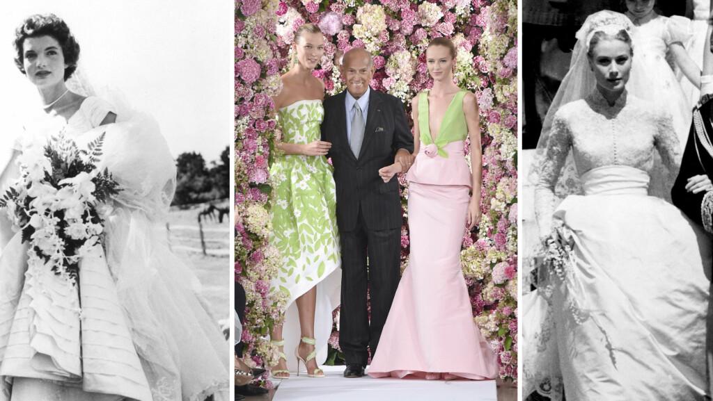 OSCAR DE LA RENTA ER DØD: Etter å ha designet drømmekjoler og ikoniske brudekjoler i 50 år, er motelegenden død, 82 år gammel.  Foto: All Over Press