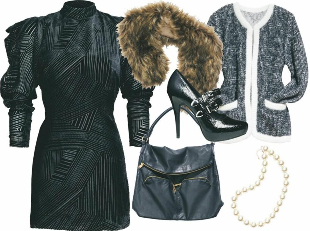 FESTGARDEROBE PÅ BUDSJETT: Stikkord for partytrendene hos H&M er eleganse, rock'n roll og Coco Chanel. Se informasjon om klærne lenger ned i saken.