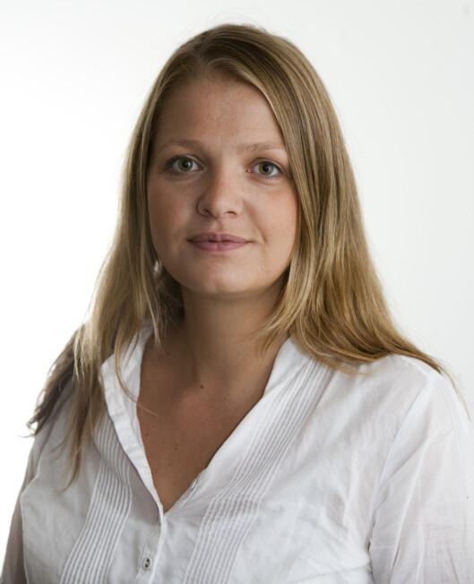 FØR: - Håret blir ofte veldig flatt på toppen, sier Elisabeth Dalseg. Foto: Per Ervland