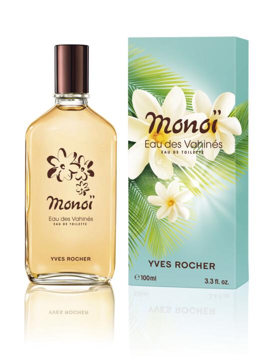 Vanlije, kokos, Ylang Ylang og gardenia, hva mer kan man ønske (kr 200, Yves Rocher Monoï, EdT)?