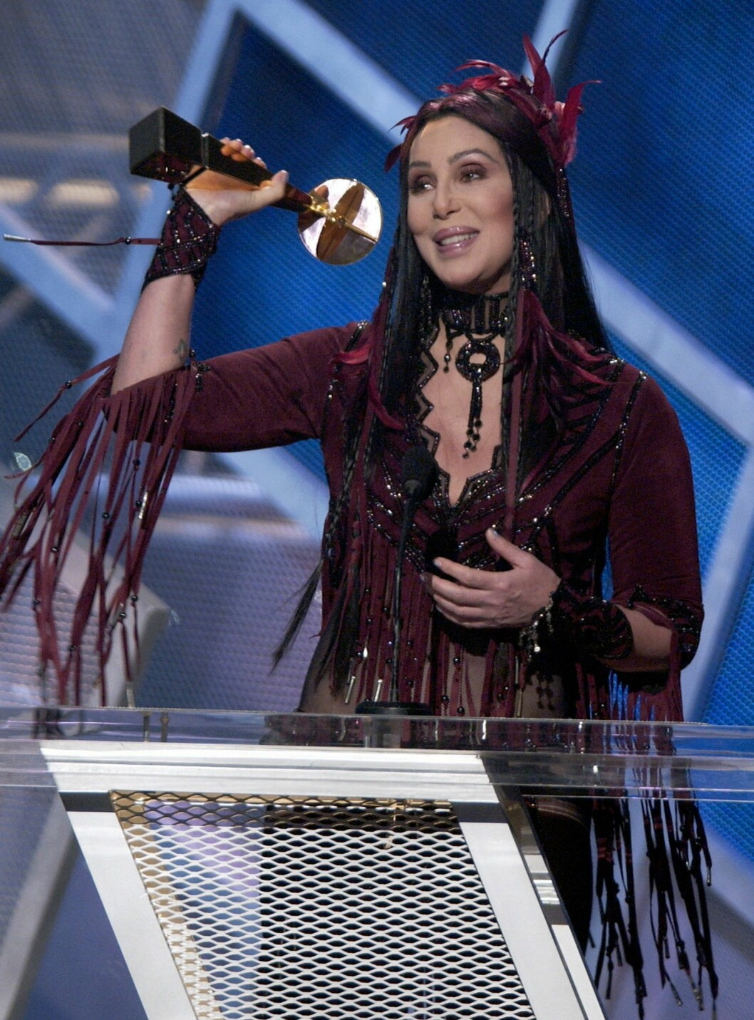 "BILLBOARD MUSIC AWARDS 2002: Cher vinner ""Lifetime Achievement Award"". Foto: AP"