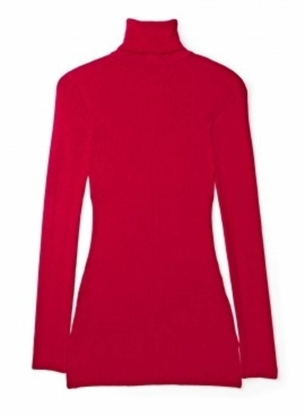 <strong>TRENDPLAGGET:</strong> Rød pologenser fra Sonia Rykiel (ca kr.1440/Mywardrobe.com). Pologenseren er en klassiker, og i høst et nøkkelplagg. Den kan utvide garderoben din på et blunk, for denne sesongen skal vi bruke den under ermeløse kjoler og florlette chiffonstoffer.  Foto: Produsenten