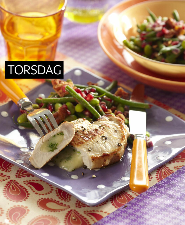 KOTELETTER MED FRISK SALAT: En enkel, sunn og rask oppskrift for kjøttmiddagen denne uken Foto: All Over Press