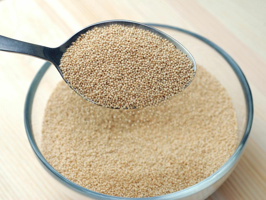 <strong>ALTERNATIV TIL GLUTEN:</strong> Amaranthmel er laget av et frø med høyt innhold av protein og kostfiber, og er et fint alternativ til gluten i bakst.  Foto: P.CH. - Fotolia