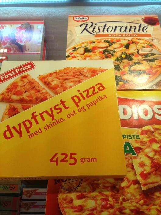 IKKE NOE DÅRLIGERE: Det er ikke slik at billigpizzaen er noe mer usunn enn de dyrere.  Foto: Trine Solberg