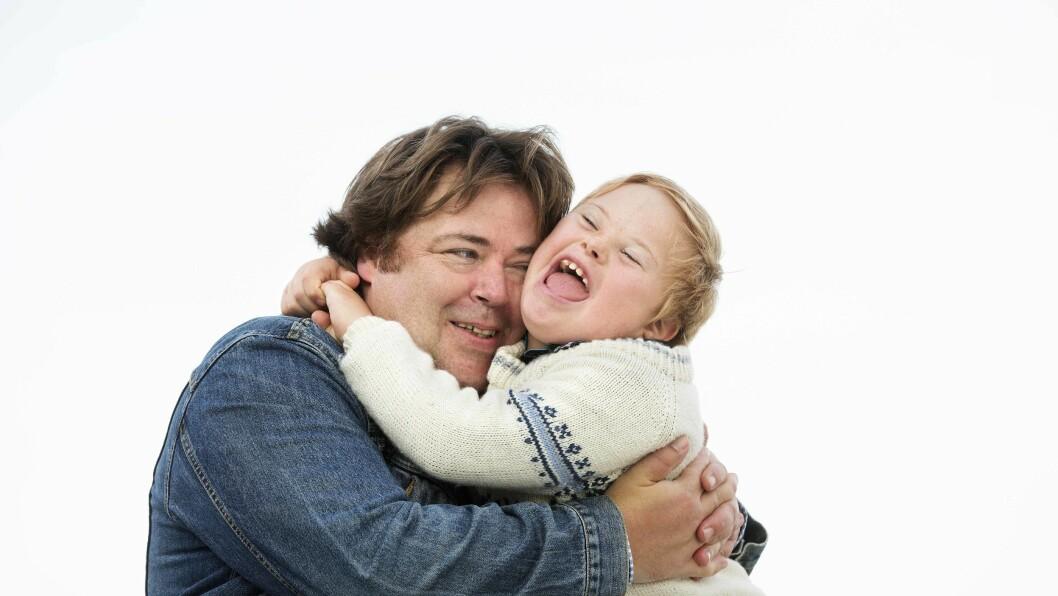 ET BARN MED DOWNS: Ronnie og sønnen Ask, som har Downs syndrom.  Foto: Sverre Chr. Jarild