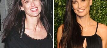 16 år skiller disse bildene av Demi Moore (52)