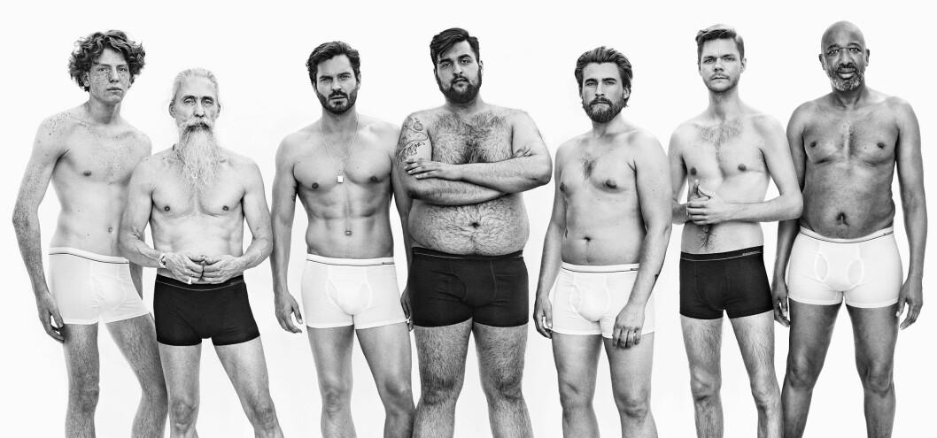 <strong>KAMPANJE:</strong> Kleskjeden Dressmann ønsker å vise et nyansert bilde av mannekroppen i sin ferske undertøyskampanje. Ifølge presseansvarlig Jens Bonesmo har de fått gode tilbakemeldinger fra kunder på kampanjen. Foto: Dressmann