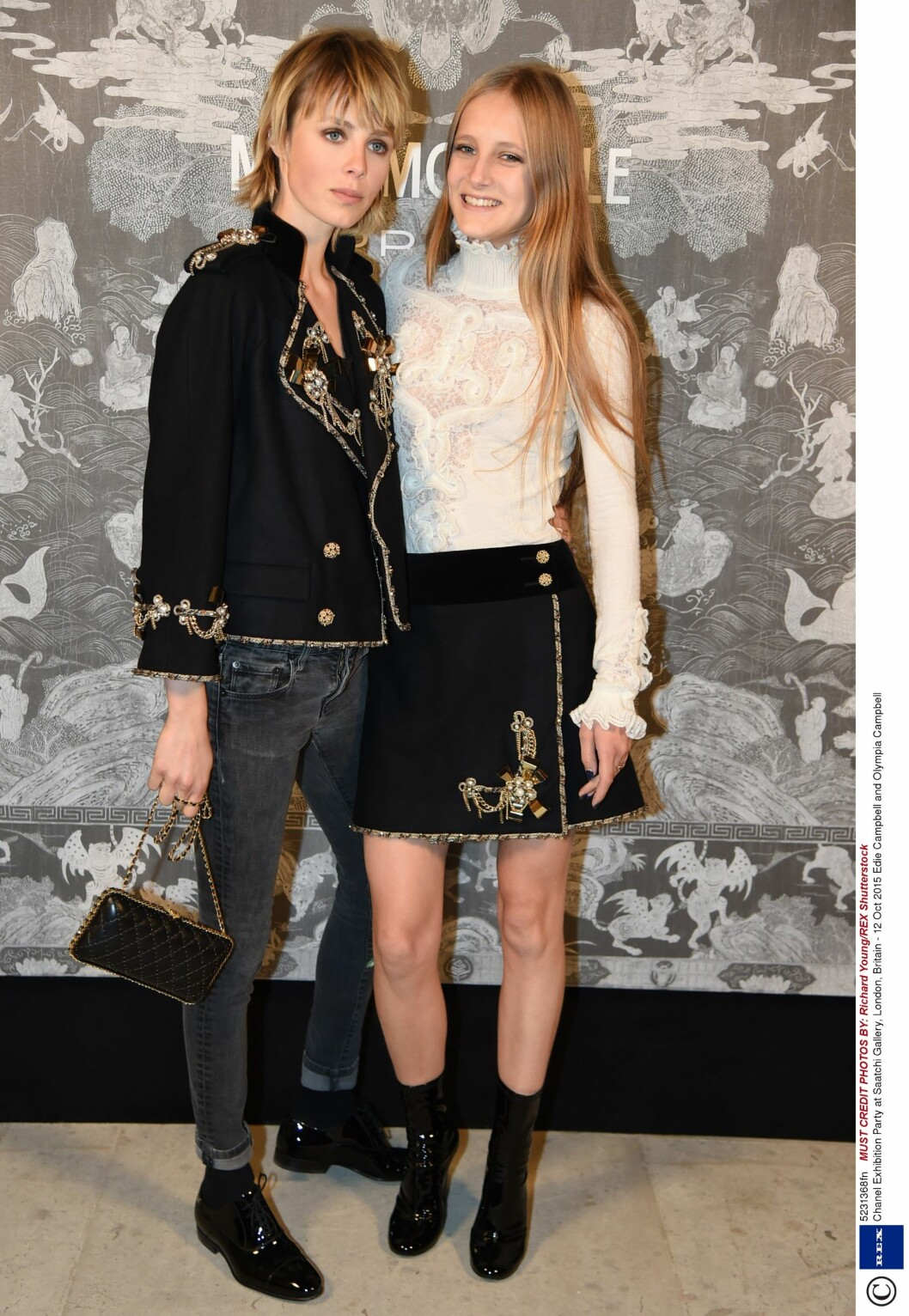 Edie Campbell (24) og Olympia Campbell. Foto: Rex Features