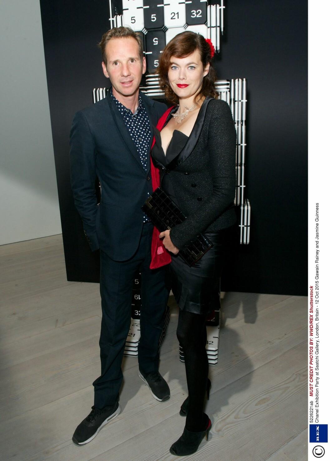 Gawain Rainey og Jasmine Guinness (39). Foto: Rex Features