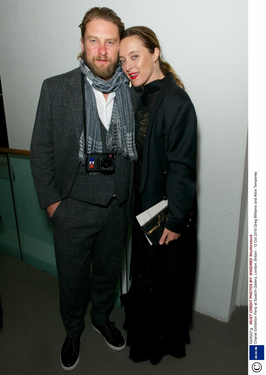Greg Williams og Alice Temperley. Foto: Rex Features