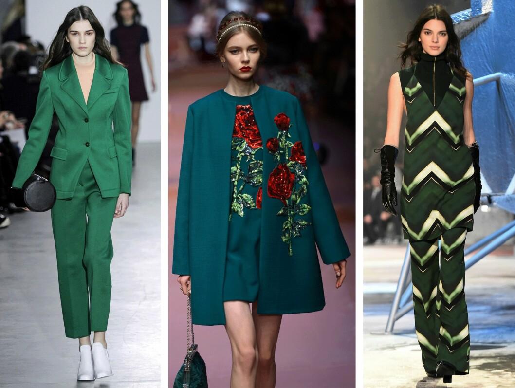GRØNT: (f.v.) Cedric Charlier, Dolce & Gabbana og H&M. Foto: Scanpix