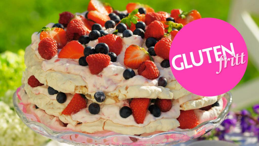 GLUTENFRI MARENGS: Hva med en deilig glutenfri marengskake denne helgen?