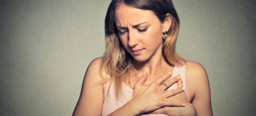 Stikkende smerter i brystet kan være angst