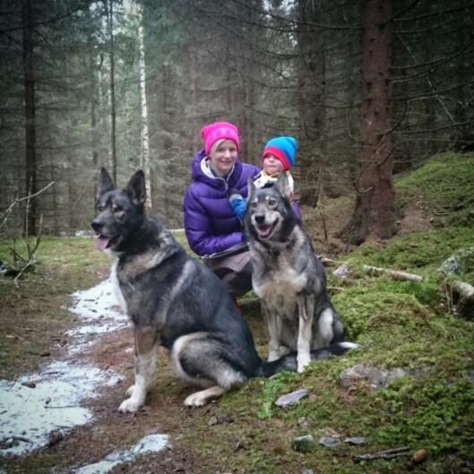 AKTIV FAMILIE: Lise elsker å være aktiv med familien sin så ofte hun kan.  Foto: Privat