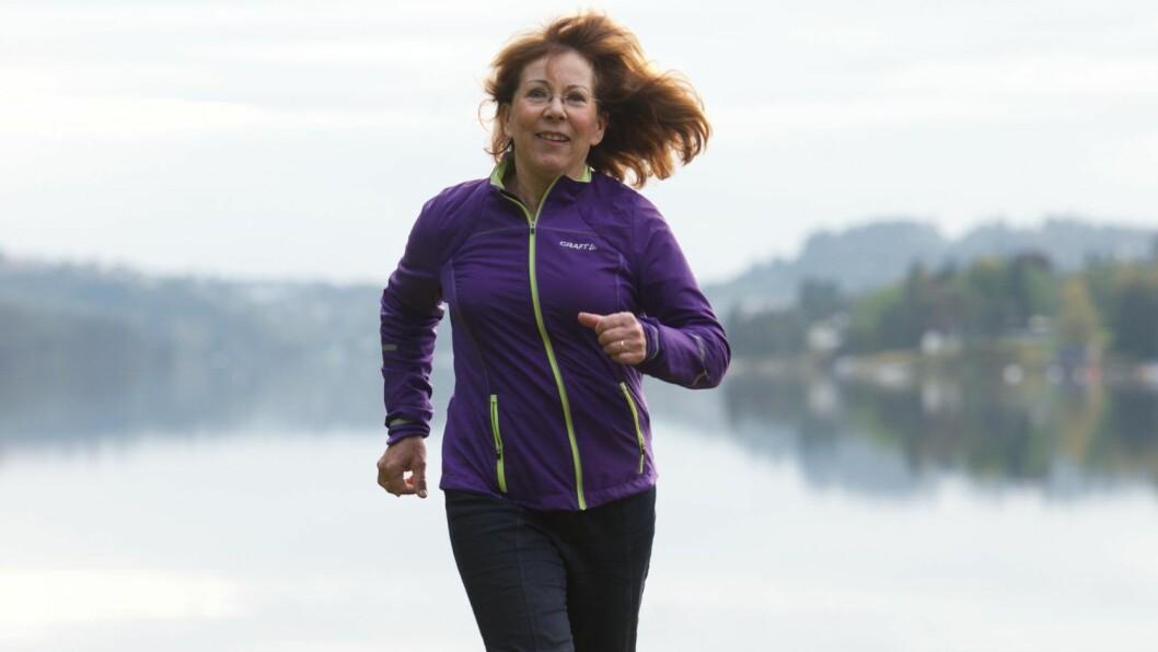 HJERTEINFARKT OG HJERTESYKDOM: Marit Aalvik fikk tung pust da hun løp. Hun trodde først at det var relativt uskyldig, men så ble det oppdaget at blodårene inn til hjertet var tette. Det kunne gitt henne et hjerteinfarkt. Foto: Pål Bentdal