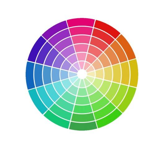<strong>FARGESIRKEL:</strong> Disse fargene komplementerer hverandre. Foto: Scanpix