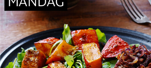 Karbonader og ovnsstekt gresskar med ingefær