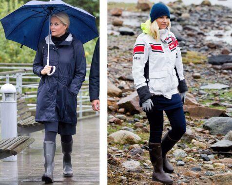 image: Mette-Marit sverger til designerstøvletter i uværet
