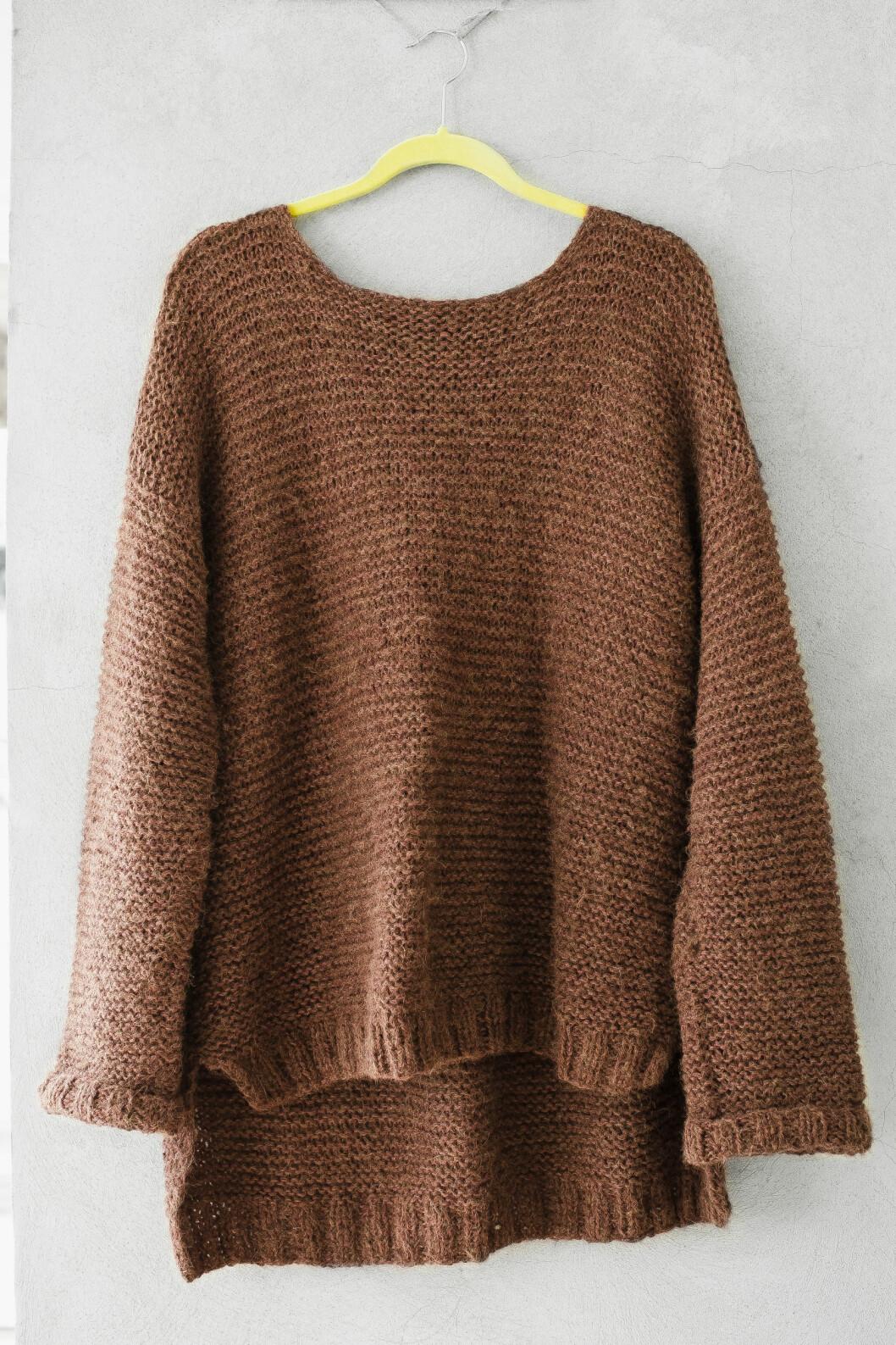 KLASSIKER: Den populære Skappel-genseren er både varm og praktisk.  Foto: Astrid Waller