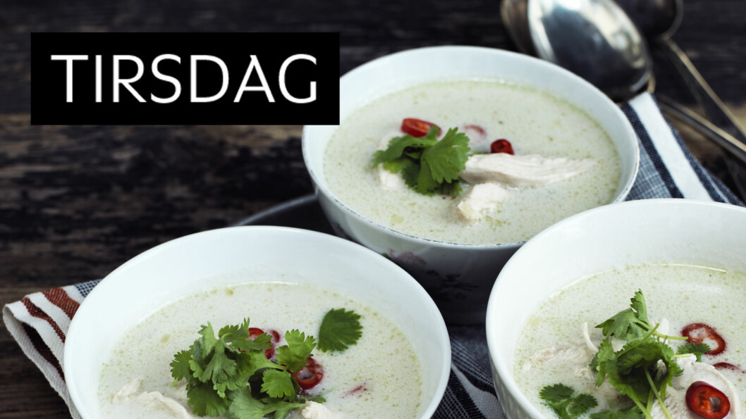 <strong>THAI KOKOS- KYLLINGSUPPE:</strong> Fyldig suppe fra det thailandske kjøkken. Verdt å teste ut! Foto: Columbus Leth