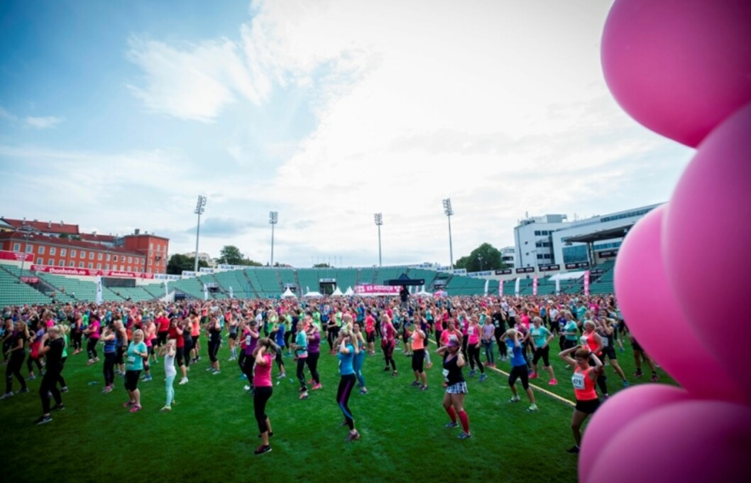 KK-MILA: I år som i fjor møtes vi på Bislett Stadion. Over 6000 damer er påmeldt til KK-Mila nå på lørdag!  Foto: Emil Kjos Sollie