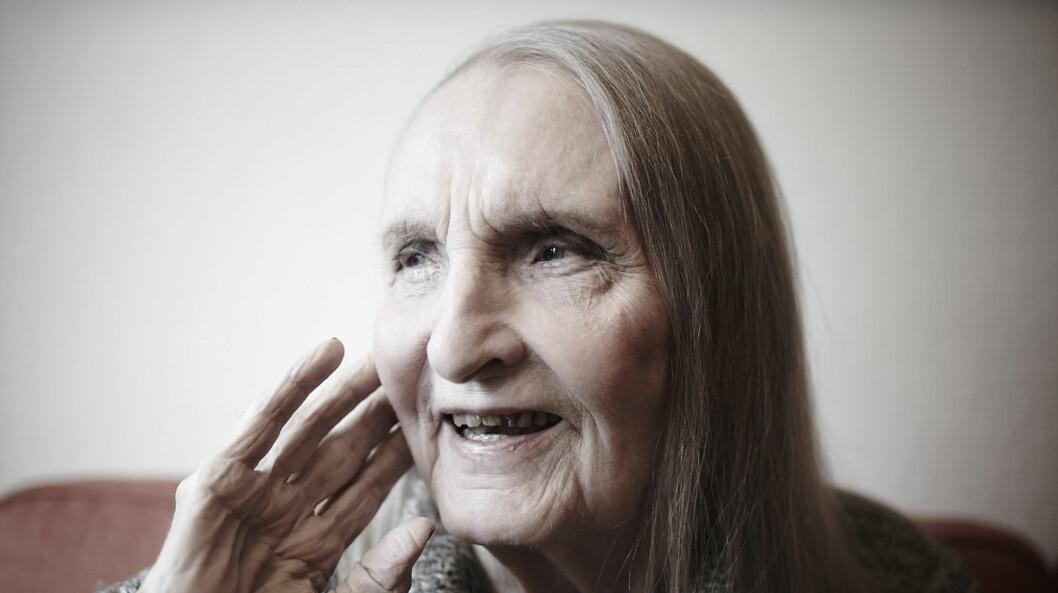 SOSSEN KROHG: FORTSATT BOHEMSKT: Sossen Krohg (91) bor nå på Majorstua bo- og servicesenter, der hun hever bohemfaktoren med 100 prosent.  Foto: Geir Dokken