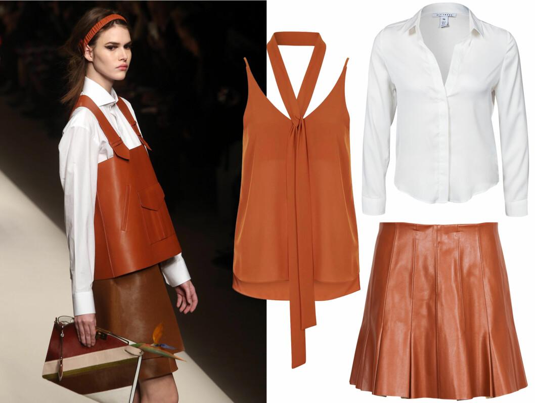Bli inspirert av Fendi til hvordan du kan se fresh ut i karamellfargede plagg.  Foto: Scanpix.