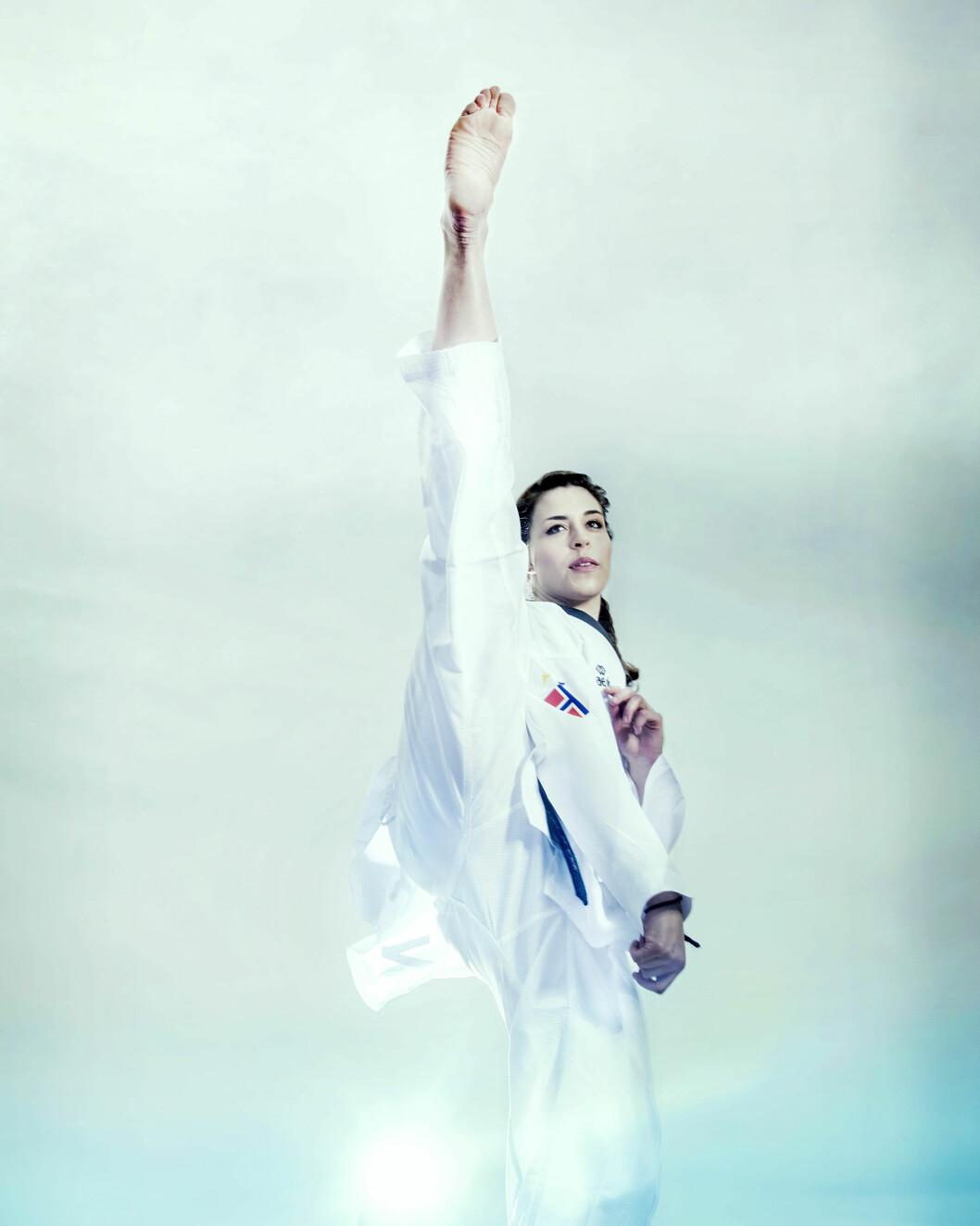 ENDELIG TILBAKE: Etter tre år helt ute av idretten er Tina Røe Skaar igjen medaljekandidat på internasjonale taekwondostevner. Foto: Julie Kristine Krøvel