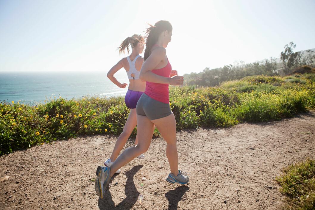 TO SAMMEN: Man trener hardere om man er to som gjør det sammen. Foto: Scanpix