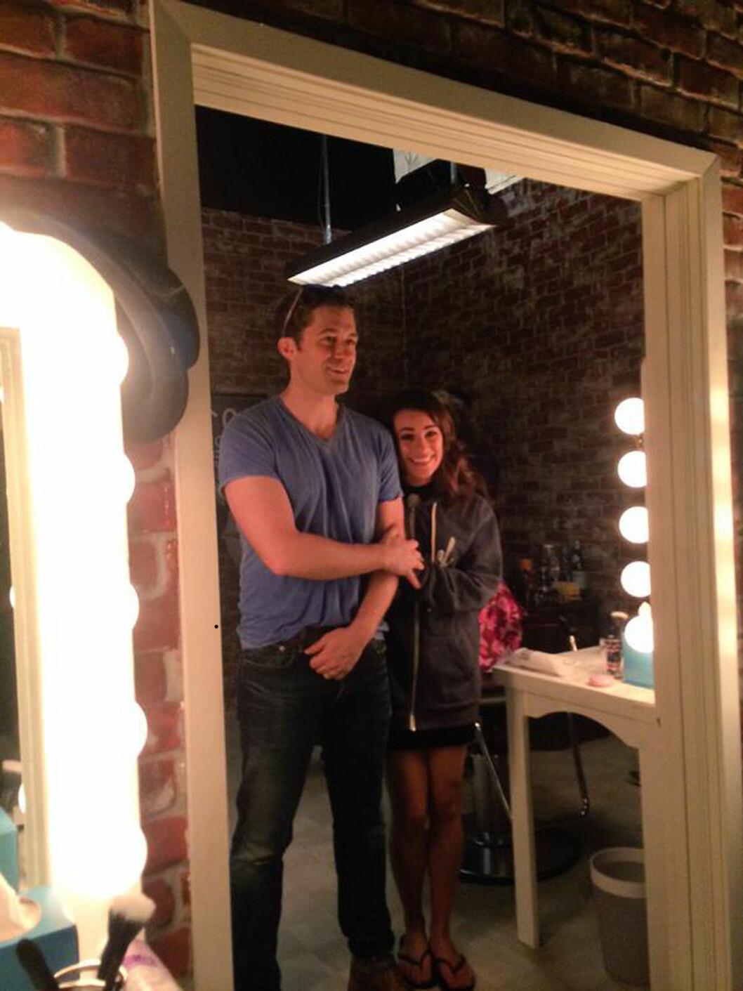 DATET FØR GLEE: Matthew Morrison og Lea Michele. Foto: Xposure