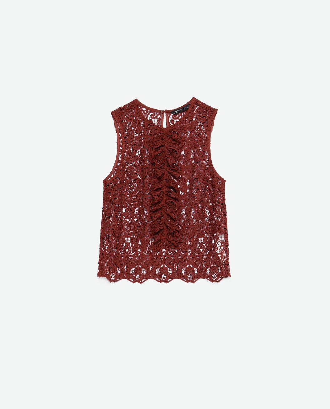 Topp fra Zara, kr 399. Foto: Produsenten