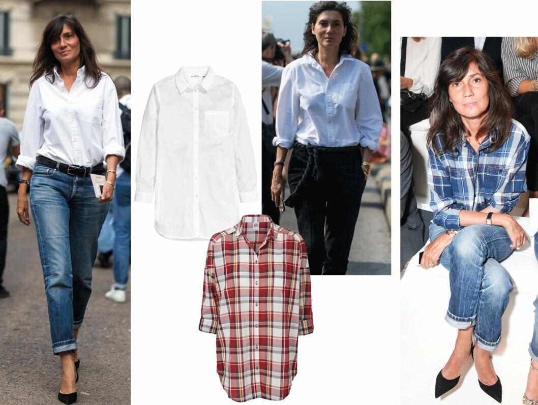 EMMANUELLE ALT: Vogue-redaktøren er ofte å se en oversized skjorte. Gå for en rutete eller hvit variant! Foto: Scanpix, Produsenten
